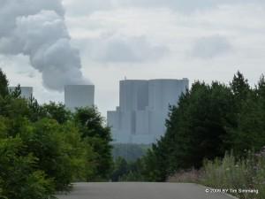 Blick aufs Kraftwerk Schwarze Pumpe von der Hochkippe Pulsberg